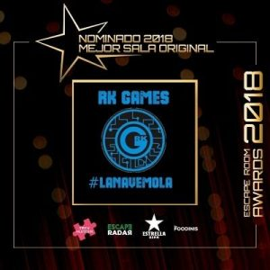 Nominación de Rk Games a mejor sala original en los Awards escape room 2018